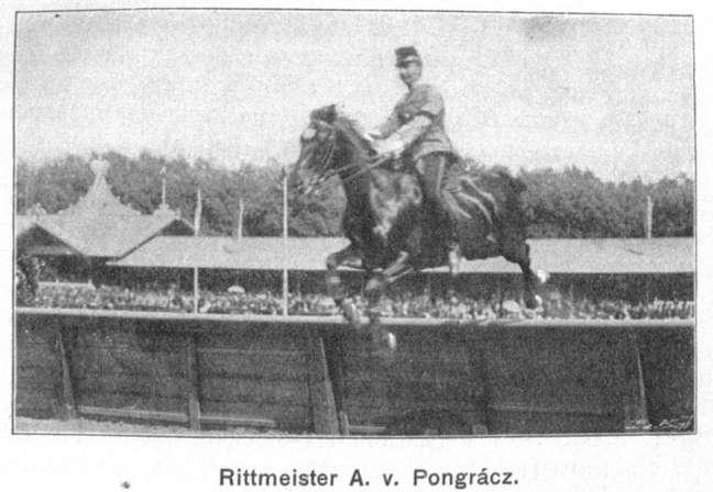 72 é a idade do mais velho competidor olímpico do hipismo, Arthur von Pongracz (Áustria), que participou dos jogos de 1936. Imagem mostra atleta na competição de 1901