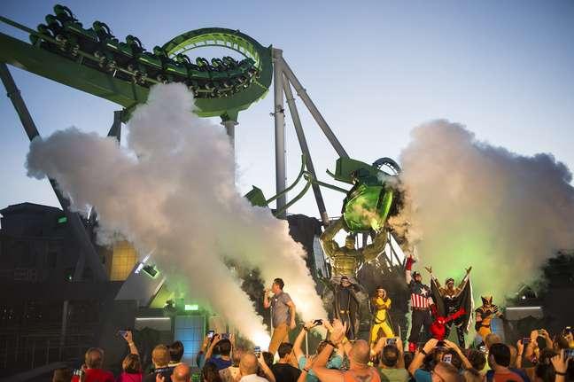 The Incredible Hulk Coaster foi reinaugurado nesta semana no parque Universal's Islands of Adventure