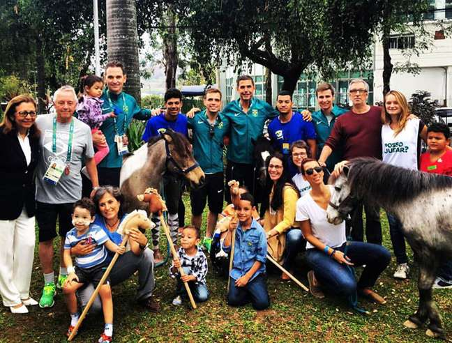 Equipe brasileira no Hospital Federal da Lagoa