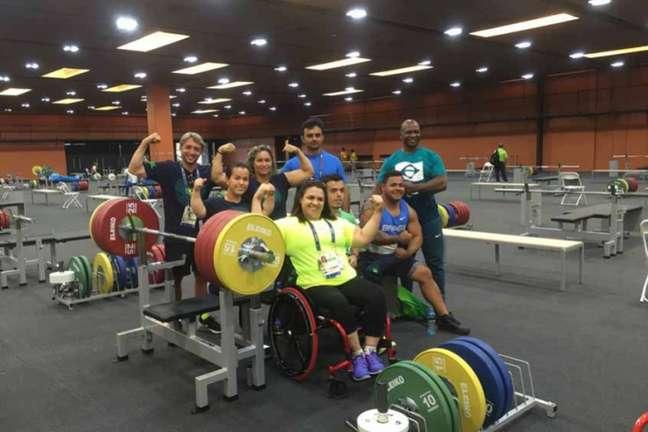 Seleção de halterofilismo paralímpico esteve no Riocentro na quinta-feira (Foto: Carol Delmazo/Brasil2016.gov.br)