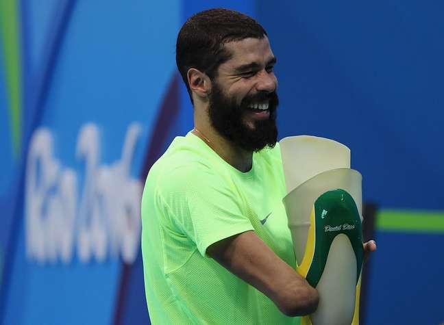 Daniel Dias após treino no Estádio Aquático