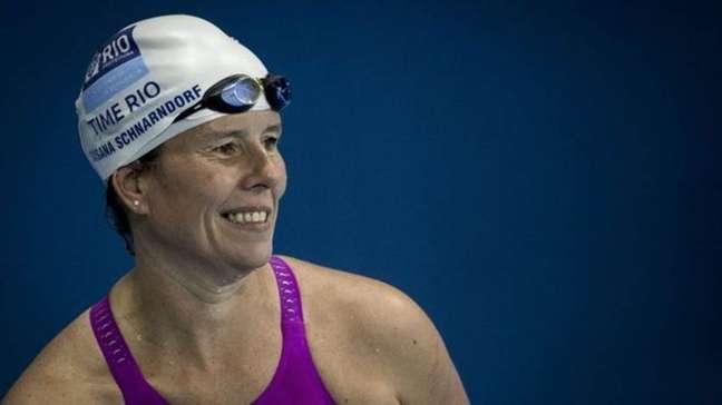 Gaúcha, que foi campeã mundial em 2013, já mudou de categoria quatro vezes para continuar competindo na natação