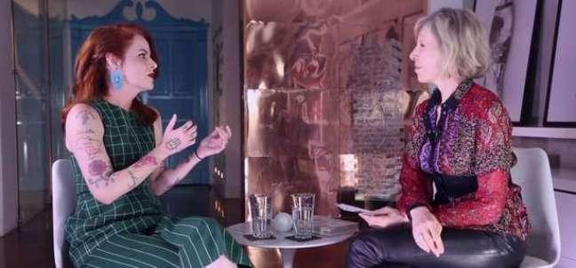 Young foi entrevistada no canal de Marília Gabriela no YouTube (Foto: Reprodução)
