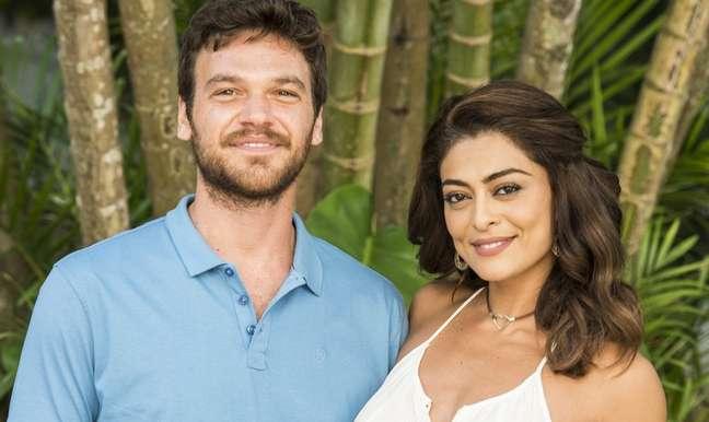 Zeca (Marco Pigossi) e Ritinha (Isis Valverde): paixão e ciúme em paisagem amazônica