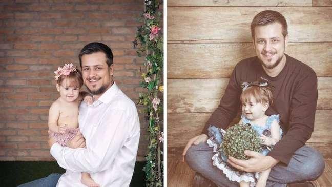 Philippe Maciel com a filha Alice: desemprego pesou em decisão de engenheiro de priorizar afazeres domésticos, ele agora diz não abrir mão de cuidar da filha