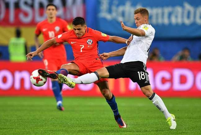 O Chile, do atacante Alex Sánchez, brigou até o último minuto, mas não conseguiu marcar um gol na decisão da Copa das Confederações