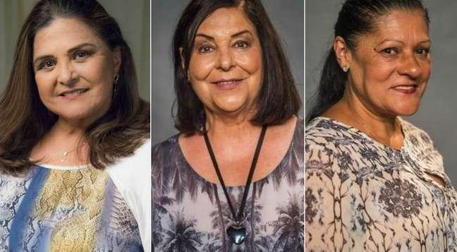 Elizângela, Cláudia Mello e Luci Pereira: bons personagens para atrizes na maturidade artística