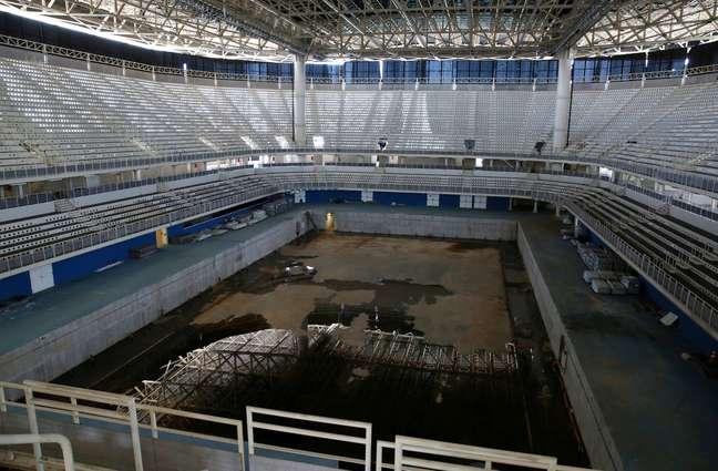 Estádio onde foram disputados os esportes aquáticos