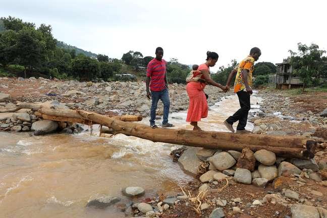 Deslizamento gigante mudou a paisagem de Freetown