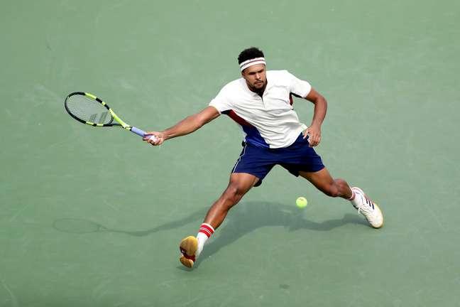 O tenista francês Jo-Wilfried Tsonga, atual número 12 do mundo, estreou com vitória no grandslam americano