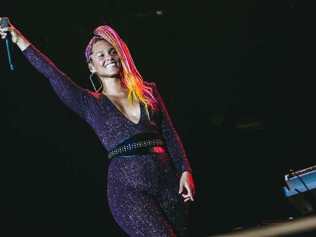 Alicia Keys encantou o Rock in Rio com show engajado no domingo, 17 de setembro de 2017