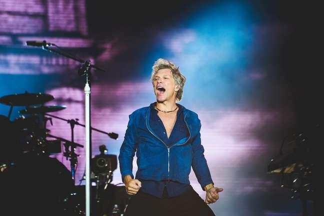 Headliner da noite, Bon Jovi cantou até perder a voz no Rock in Rio