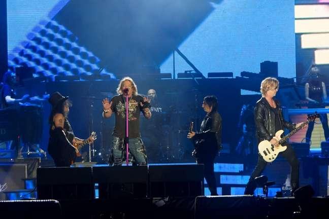 Novamente juntos, Axl Rose, Duff McKagan e Slash não decepcionaram o público