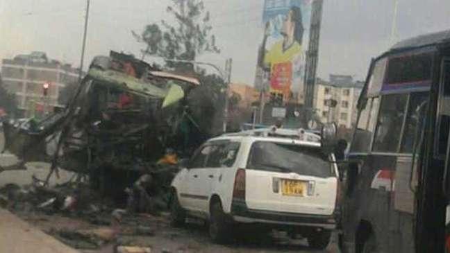 Cena de um ataque no Quênia