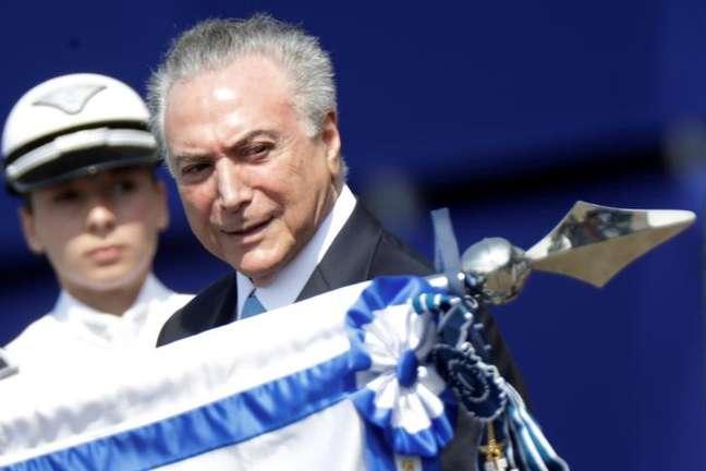 Presidente Michel Temer durante cerimônia em Brasília 23/10/2017 REUTERS/Ueslei Marcelino