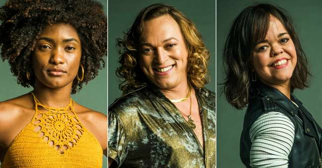 Raquel (Erika Januza), Nick (Fábio Lago) e Estela (Juliana Caldas): racismo, homofobia e discriminação de anã no horário nobre da Globo