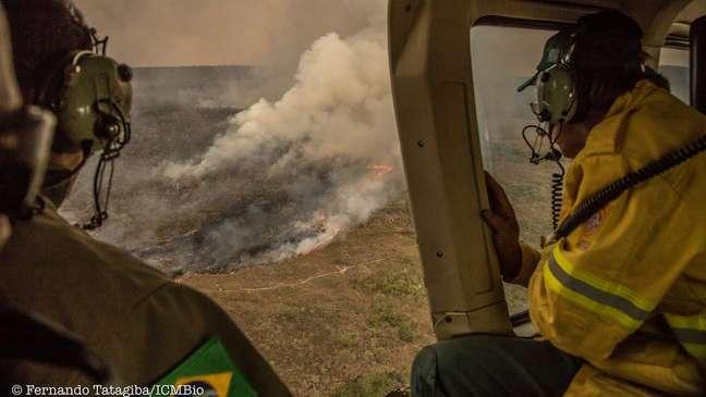 De acordo com o Inpe, número de focos de incêndio em 2017 é o maior da história | Foto: Fernando Tatagiba/ICMBio