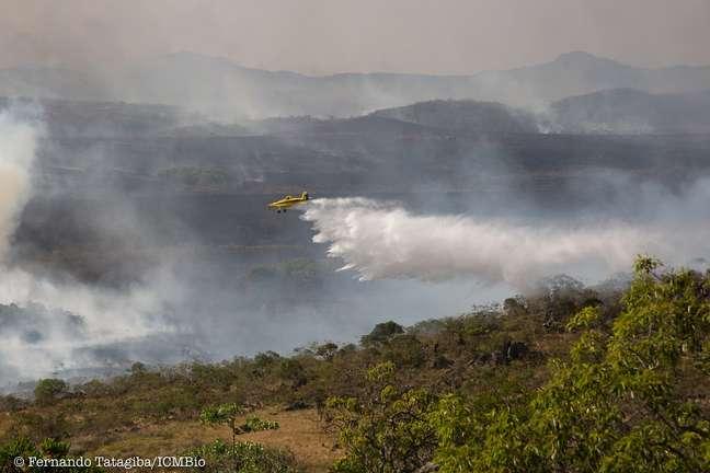 Incêndios devastam região há duas semanas | Foto: Fernando Tatagiba/ICMBio