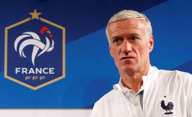 Técnico da seleção da França, Didier Deschamps 09/10/2017  REUTERS/Pascal Rossignol