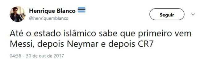 É guerra! Ameaças do Estado Islâmico a Neymar, Messi e CR7 são respondidas pelos brasileiros com memes