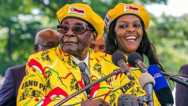 Grace e Robert Mugabe