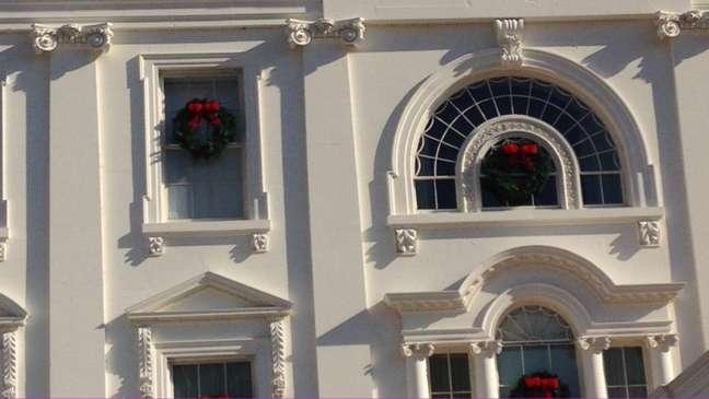 Decoração de Natal foi antecipada na Casa Branca