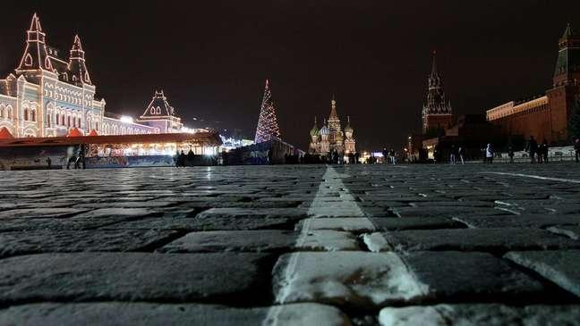 Natal em Moscou. Na Rússia, a data é comemorada em 7 de janeiro