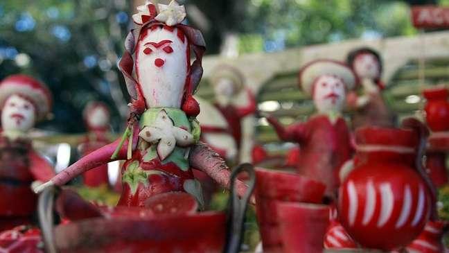 Esculturas de rabanete no México