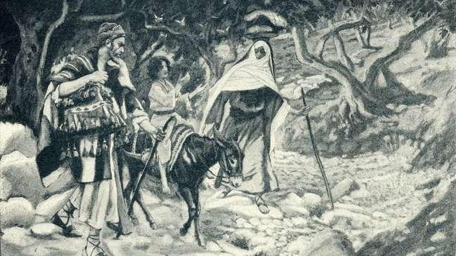 Segundo a tradição cristã, José e Maria viajaram para Belém pouco antes do nascimento de Jesus   Foto: Getty Images