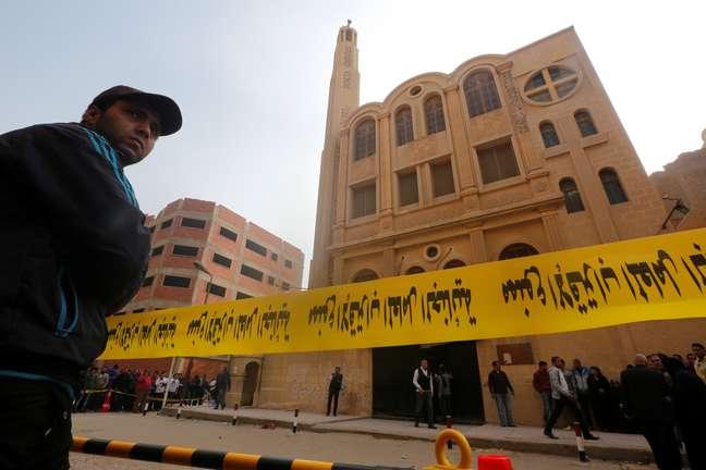 Local de ataque em igreja no Cairo, Egito