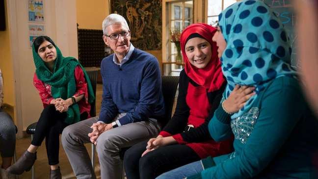 Tim Cook & Malala