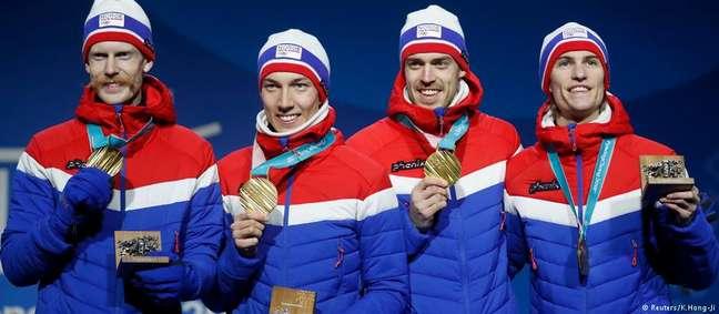Avalanche de medalhas de ouro para a Noruega em Pyeongchang