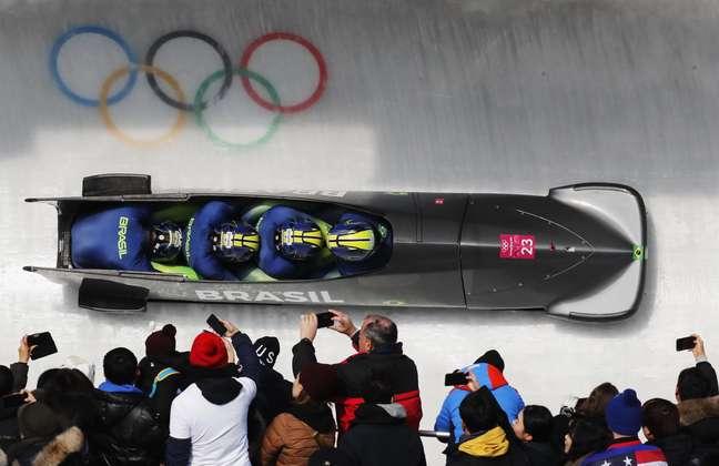 Equipe brasileira de bobsled realiza sua última prova na Coreia do Sul