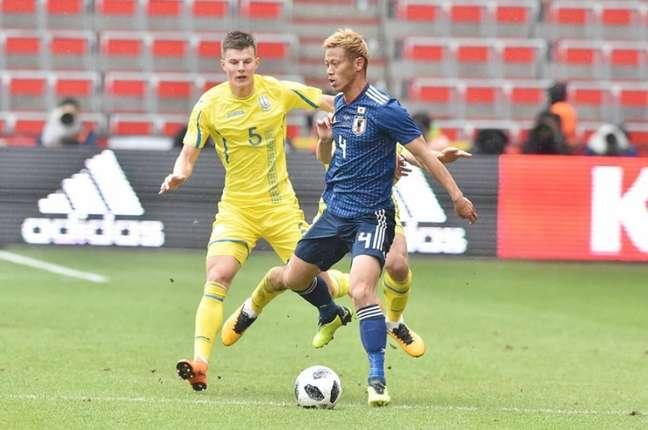 Ucrânia e Japão atuaram no Estádio de Sclessin (Foto: Divulgação / Site Oficial)