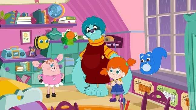 A série de animação mostra as descobertas de uma garotinha de quatro anos em seu mundo lúdico