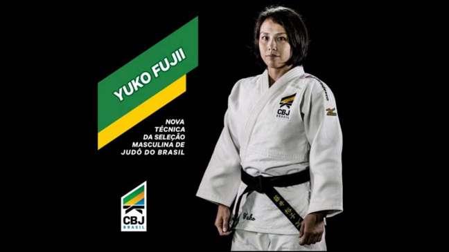 Japonesa Yuko Fujii será a primeira mulher a treinar a seleção masculina na história do judô brasileiro (Foto: CBJ)