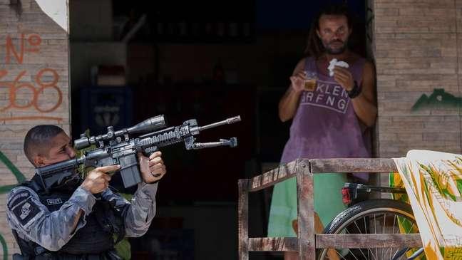 Forças de segurança em operação no Rio de Janeiro