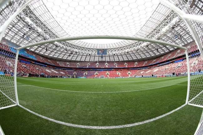 Vista do Estádio Lujniki, onde Rússia e Arábia Saudita farão o primeiro jogo da Copa do Mundo