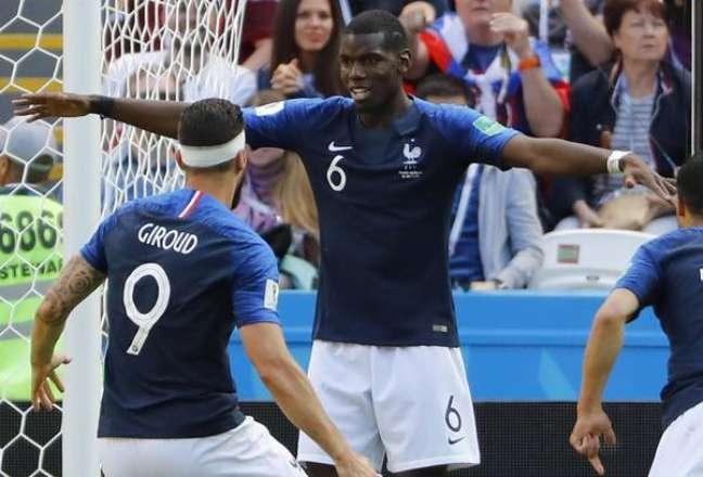 Pogba marcou o gol da vitória da França sobre a Austrália