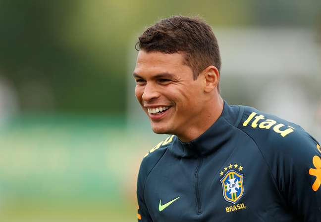 Zagueiro Thiago Silva 29/05/2018  Action Images via Reuters/Peter Cziborra
