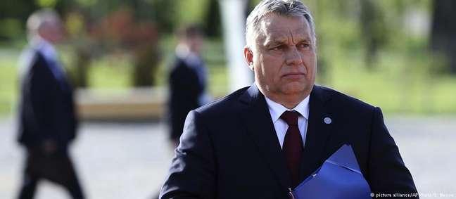 Viktor Orbán, premiê da Hungria, recebeu os líderes do Grupo de Visegrad em Budapeste nesta quinta-feira