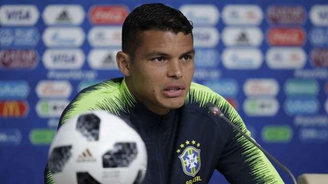 Thiago Silva falou com a imprensa nesta quinta-feira (Foto: Pedro Martins / MoWA Press)