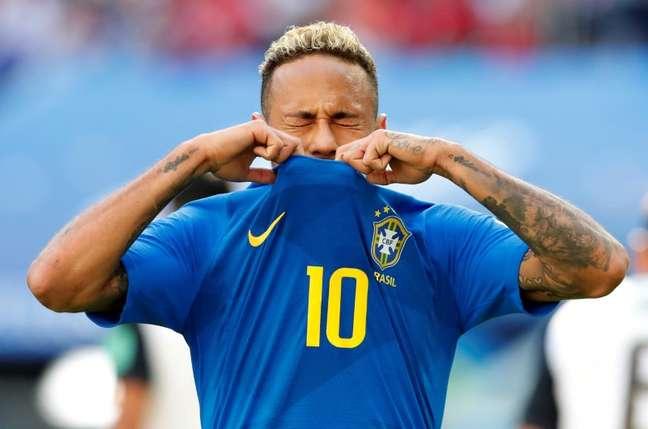 Neymar durante jogo contra a Costa Rica