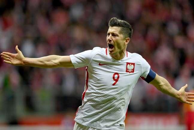 Maior artilheiro da história da seleção polonesa, Lewandowski ainda não marcou gol nesta edição do Mundial (Foto: JANEK SKARZYNSKI / AFP)