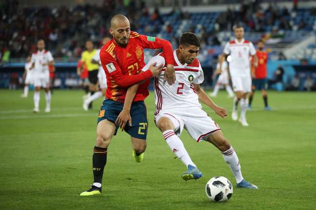 Jogo disputado: a Espanha não consegue sair na frente de Marrocos e tem que buscar o placar duas vezes