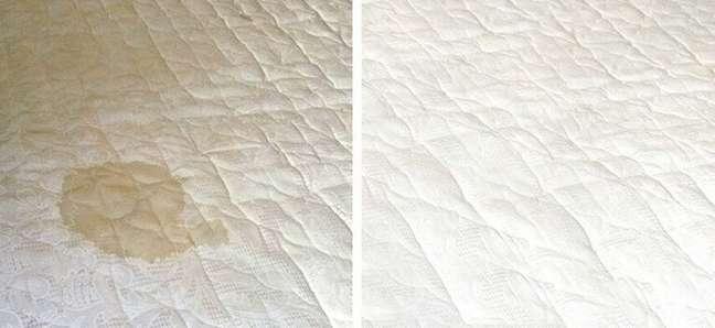 3. Antes e depois de uma das técnicas de como limpar cama box