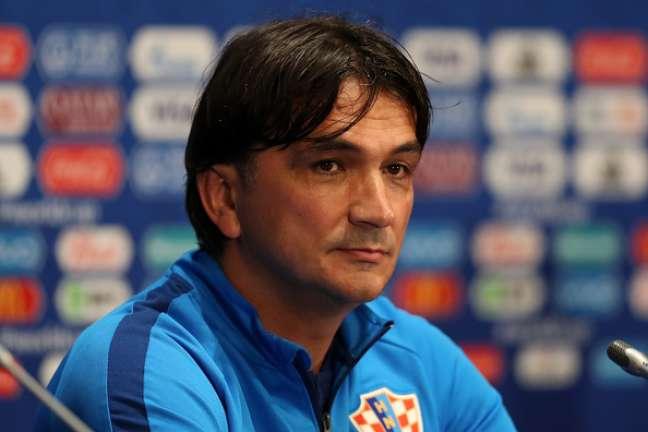 Técnico da Croácia, Zlatko Dalic, antes da partida de semifinal contra a Inglaterra