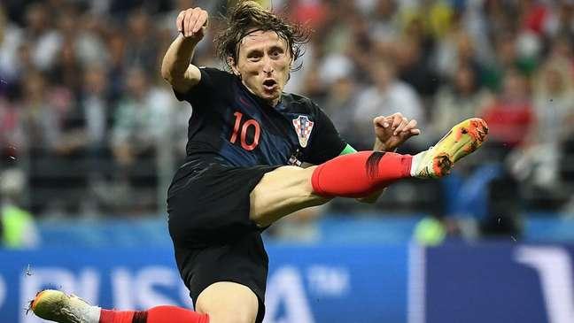 Modric, do Real Madrid, é uma das estrelas da seleção croata; país estará pela primeira vez numa final da Copa