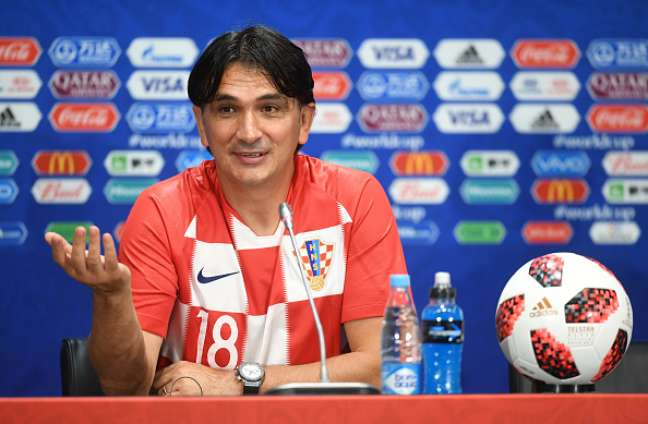 Técnico da Croácia, Zlatko Dalic, em entrevista coletiva após levar a seleção à final da Copa da Rússia