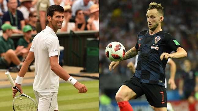 Djokovic e Rakitic podem ser campeões neste domingo (Foto: AFP)